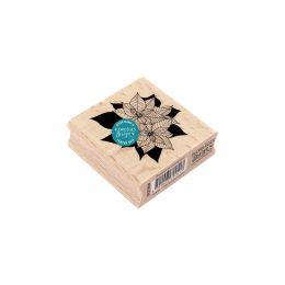 Tampon bois BOUQUET DE POINSETTIAS par Florilèges Design. Scrapbooking et loisirs créatifs. Livraison rapide et cadeau dans c...