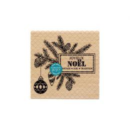 Tampon bois JOIE ET TRADITION par Florilèges Design. Scrapbooking et loisirs créatifs. Livraison rapide et cadeau dans chaque...