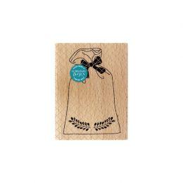 Tampon bois POCHON DE NOËL par Florilèges Design. Scrapbooking et loisirs créatifs. Livraison rapide et cadeau dans chaque co...