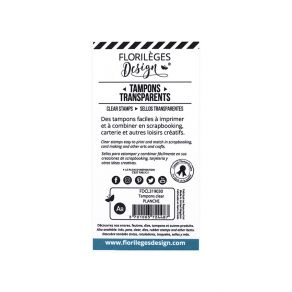 Tampon clear PLANCHE par Florilèges Design. Scrapbooking et loisirs créatifs. Livraison rapide et cadeau dans chaque commande.