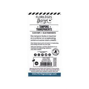 Tampons clear MES PETITS MOTS par Florilèges Design. Scrapbooking et loisirs créatifs. Livraison rapide et cadeau dans chaque...