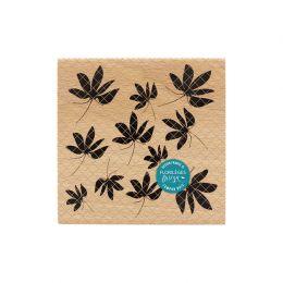 Tampon bois FEUILLES D'AUTOMNE par Florilèges Design. Scrapbooking et loisirs créatifs. Livraison rapide et cadeau dans chaqu...