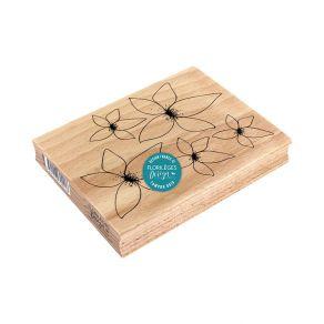 Tampon bois FLORALIES par Florilèges Design. Scrapbooking et loisirs créatifs. Livraison rapide et cadeau dans chaque commande.