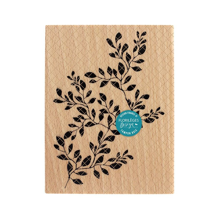 Parfait pour créer : Tampon bois GRAND FEUILLAGE PARFAIT par Florilèges Design. Livraison rapide et cadeau dans chaque commande.