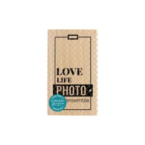 Tampon bois LOVE LIFE par Florilèges Design. Scrapbooking et loisirs créatifs. Livraison rapide et cadeau dans chaque commande.