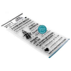 Tampons clear LA POÉSIE AU CRAYON par Florilèges Design. Scrapbooking et loisirs créatifs. Livraison rapide et cadeau dans ch...