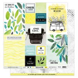 Parfait pour créer : Papier imprimé YELLOW 1 par Florilèges Design. Livraison rapide et cadeau dans chaque commande.