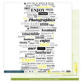 Papier imprimé YELLOW 2 par Florilèges Design. Scrapbooking et loisirs créatifs. Livraison rapide et cadeau dans chaque comma...