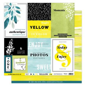 Papier imprimé YELLOW 4 par Florilèges Design. Scrapbooking et loisirs créatifs. Livraison rapide et cadeau dans chaque comma...