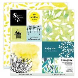 Papier imprimé YELLOW 7 par Florilèges Design. Scrapbooking et loisirs créatifs. Livraison rapide et cadeau dans chaque comma...