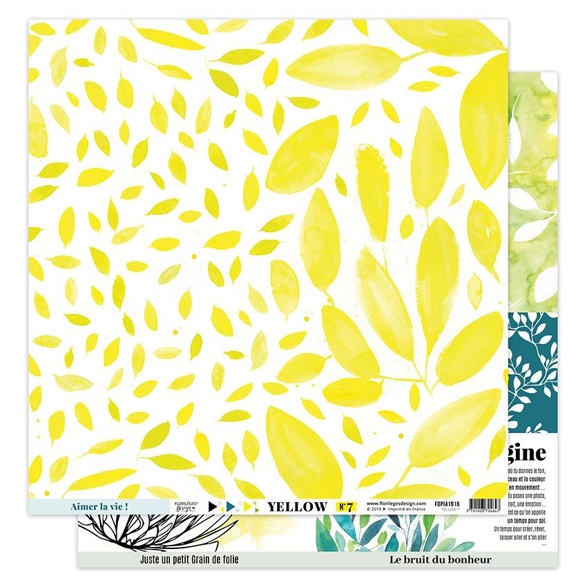 Parfait pour créer : Papier imprimé YELLOW 7 par Florilèges Design. Livraison rapide et cadeau dans chaque commande.