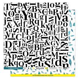 Papier imprimé YELLOW 8 par Florilèges Design. Scrapbooking et loisirs créatifs. Livraison rapide et cadeau dans chaque comma...