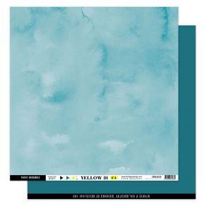 Papier Uni BLEU CANARD par Florilèges Design. Scrapbooking et loisirs créatifs. Livraison rapide et cadeau dans chaque commande.