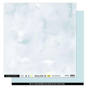 Papier uni 30,5 x 30,5 cm N°6 BLEU CIEL par Florilèges Design. Scrapbooking et loisirs créatifs. Livraison rapide et cadeau d...