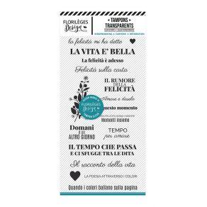 Tampon clear italien DISEGNARE LA POESIA par Florilèges Design. Scrapbooking et loisirs créatifs. Livraison rapide et cadeau ...