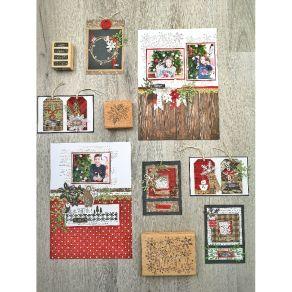 Tampon bois TAGS ET COMPAGNIE par Florilèges Design. Scrapbooking et loisirs créatifs. Livraison rapide et cadeau dans chaque...