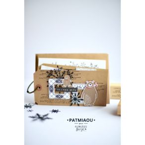 Tampon bois QUATRE ÉTIQUETTES DE FÊTE par Florilèges Design. Scrapbooking et loisirs créatifs. Livraison rapide et cadeau dan...