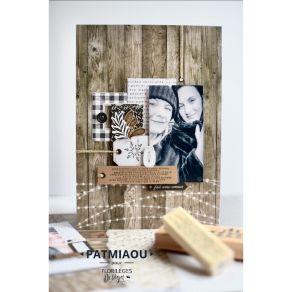 Tampon bois DOUX FLOCONS par Florilèges Design. Scrapbooking et loisirs créatifs. Livraison rapide et cadeau dans chaque comm...