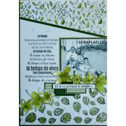 Parfait pour créer : Tampons clear PRENDRE LE TEMPS par Florilèges Design. Livraison rapide et cadeau dans chaque commande.