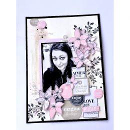 Tampon bois OSER L'AMOUR par Florilèges Design. Scrapbooking et loisirs créatifs. Livraison rapide et cadeau dans chaque comm...