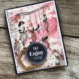 Tampon bois HAPPY LIFE par Florilèges Design. Scrapbooking et loisirs créatifs. Livraison rapide et cadeau dans chaque commande.