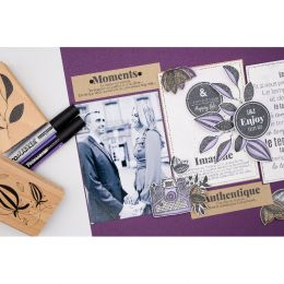 Tampon bois UNE IDÉE DU BONHEUR par Florilèges Design. Scrapbooking et loisirs créatifs. Livraison rapide et cadeau dans chaq...