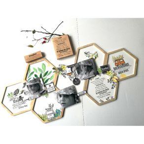 Tampon bois LE TEMPS DE VIVRE par Florilèges Design. Scrapbooking et loisirs créatifs. Livraison rapide et cadeau dans chaque...