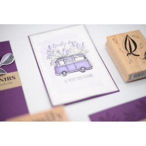 Tampon bois LE PETIT TOIT FLEURI par Florilèges Design. Scrapbooking et loisirs créatifs. Livraison rapide et cadeau dans cha...