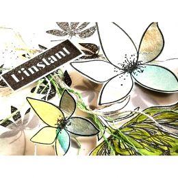 Tampon bois FLEUR UNIQUE par Florilèges Design. Scrapbooking et loisirs créatifs. Livraison rapide et cadeau dans chaque comm...