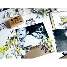 Tampon bois EVERY DAY par Florilèges Design. Scrapbooking et loisirs créatifs. Livraison rapide et cadeau dans chaque commande.