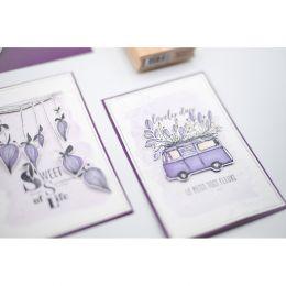 Tampon bois SWEET SYMPHONY par Florilèges Design. Scrapbooking et loisirs créatifs. Livraison rapide et cadeau dans chaque co...