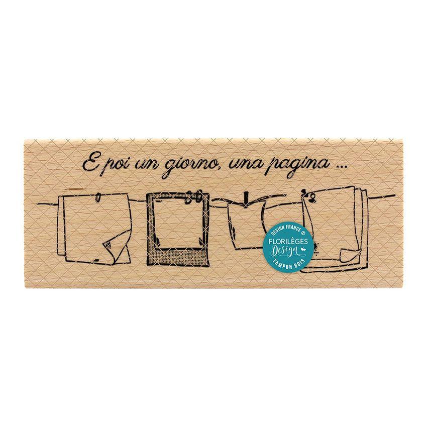 Tampon bois italien UN GIORNO UNA PAGINA par Florilèges Design. Scrapbooking et loisirs créatifs. Livraison rapide et cadeau ...