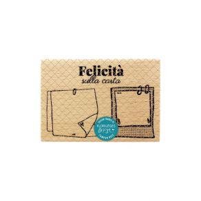 Tampon bois italien FELICITÀ SU CARTA par Florilèges Design. Scrapbooking et loisirs créatifs. Livraison rapide et cadeau dan...