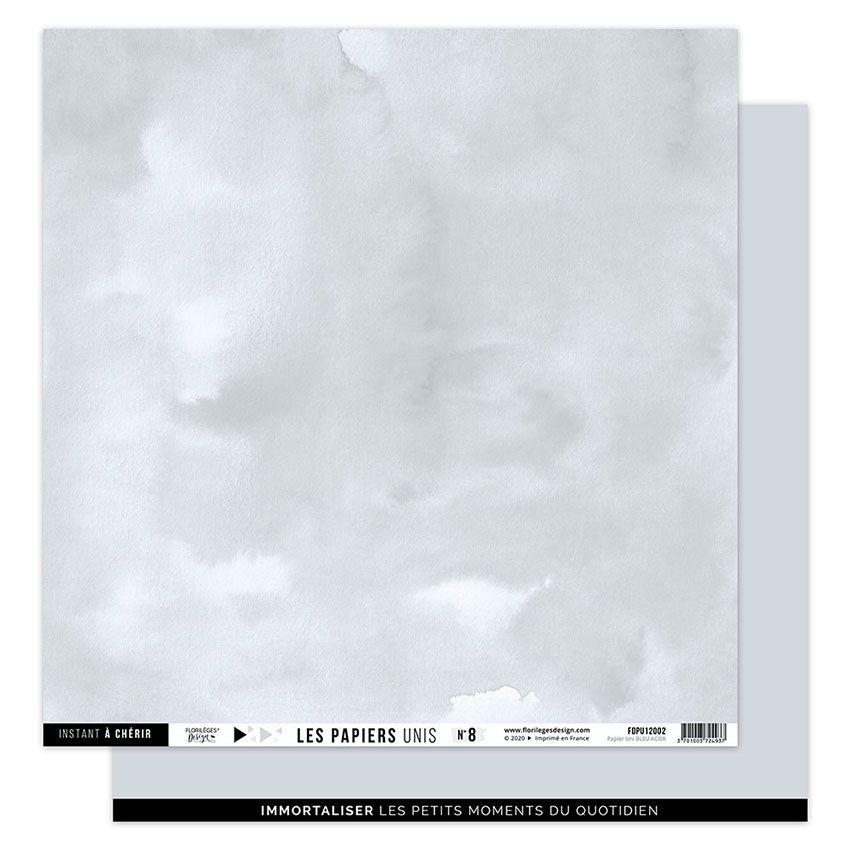 Papier uni 30,5 x 30,5 cm N°8 BLEU ACIER par Florilèges Design. Scrapbooking et loisirs créatifs. Livraison rapide et cadeau ...