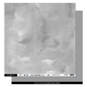 Papier uni 30,5 x 30,5 cm N°10 GRIS ORAGE par Florilèges Design. Scrapbooking et loisirs créatifs. Livraison rapide et cadeau...