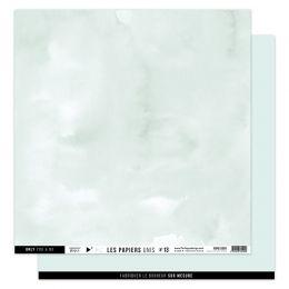 Papier uni 30,5 x 30,5 cm N°13 VERT D'EAU par Florilèges Design. Scrapbooking et loisirs créatifs. Livraison rapide et cadeau...