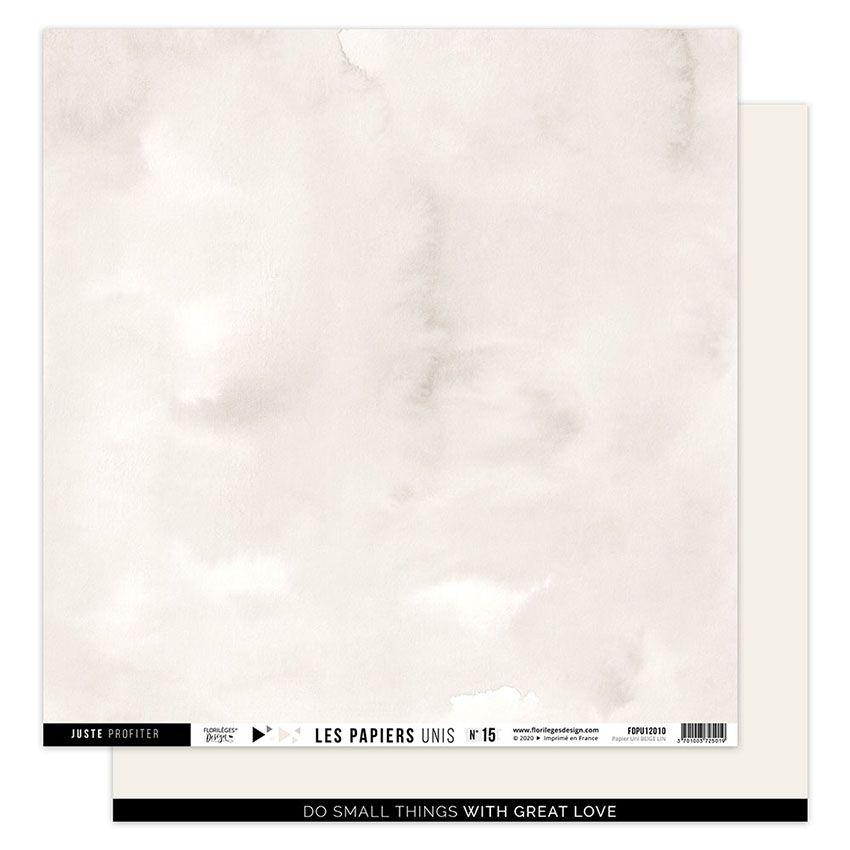 Papier Uni N°15 BEIGE LIN par Florilèges Design. Scrapbooking et loisirs créatifs. Livraison rapide et cadeau dans chaque com...