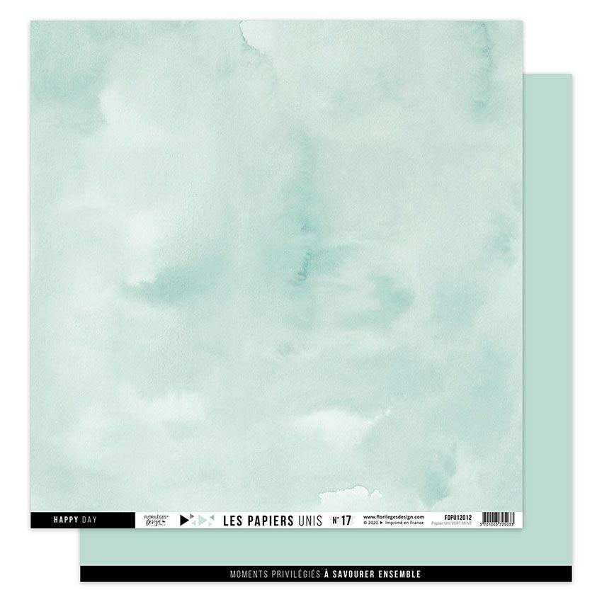 Papier uni 30,5 x 30,5 cm N°17 VERT MINT par Florilèges Design. Scrapbooking et loisirs créatifs. Livraison rapide et cadeau ...