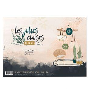 Bloc A5 LES JOLIES CHOSES DE LA VIE par Florilèges Design. Scrapbooking et loisirs créatifs. Livraison rapide et cadeau dans ...
