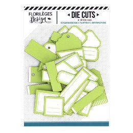 Etiquettes VERT BOURGEON par Florilèges Design. Scrapbooking et loisirs créatifs. Livraison rapide et cadeau dans chaque comm...