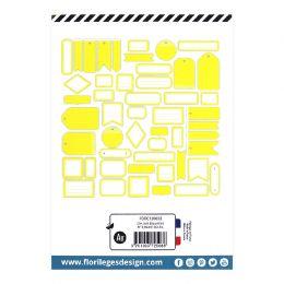 Etiquettes JAUNE SOLEIL par Florilèges Design. Scrapbooking et loisirs créatifs. Livraison rapide et cadeau dans chaque comma...