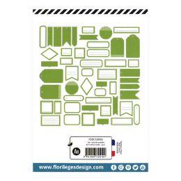 Etiquettes VERT FEUILLAGE par Florilèges Design. Scrapbooking et loisirs créatifs. Livraison rapide et cadeau dans chaque com...