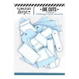 Etiquettes BLEU CIEL par Florilèges Design. Scrapbooking et loisirs créatifs. Livraison rapide et cadeau dans chaque commande.