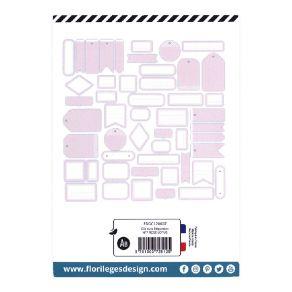Etiquettes ROSE LOTUS par Florilèges Design. Scrapbooking et loisirs créatifs. Livraison rapide et cadeau dans chaque commande.