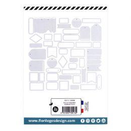 Etiquettes N°8 BLEU ACIER