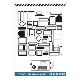 Etiquettes N°9 BLANC PUR et NOIR PROFOND