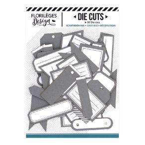 Etiquettes GRIS ORAGE par Florilèges Design. Scrapbooking et loisirs créatifs. Livraison rapide et cadeau dans chaque commande.