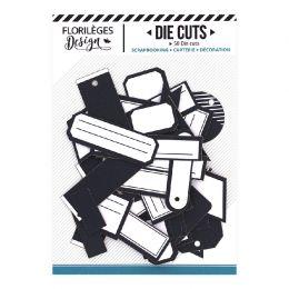 Etiquettes BLEU NUIT par Florilèges Design. Scrapbooking et loisirs créatifs. Livraison rapide et cadeau dans chaque commande.