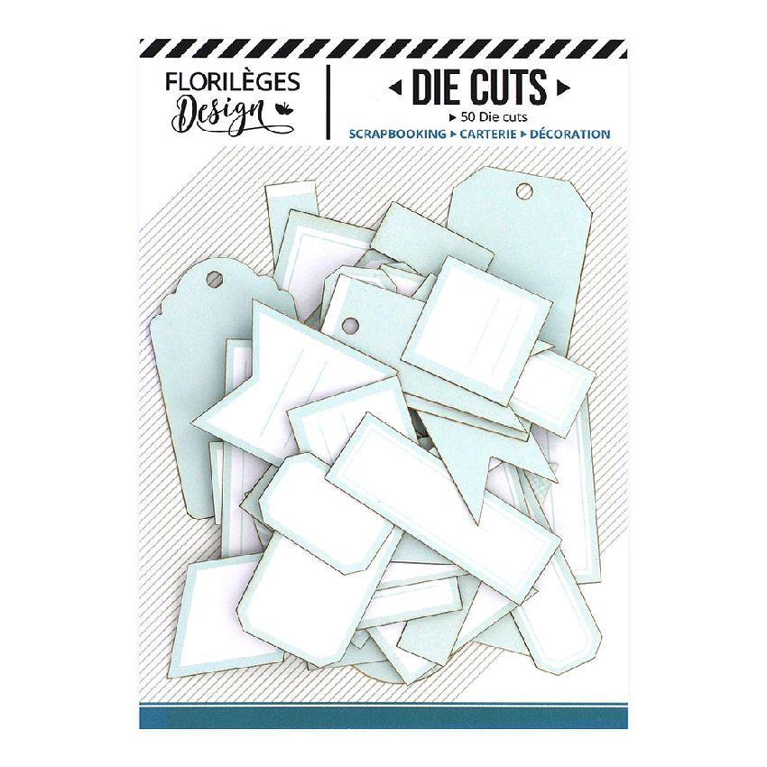Etiquettes VERT D'EAU par Florilèges Design. Scrapbooking et loisirs créatifs. Livraison rapide et cadeau dans chaque commande.