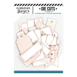 Etiquettes ROSE PÊCHE par Florilèges Design. Scrapbooking et loisirs créatifs. Livraison rapide et cadeau dans chaque commande.